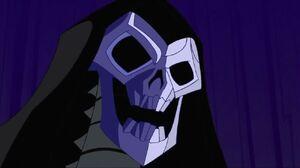 Skeleton King thanking Valeena before killing her