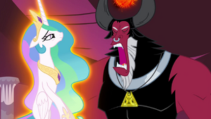 Tirek trying to suck out Celestia's magic S4E26