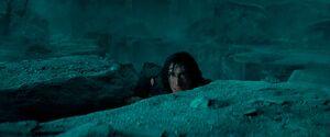 Ben climbs the pit