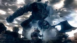 DS Battle with Iron Golem