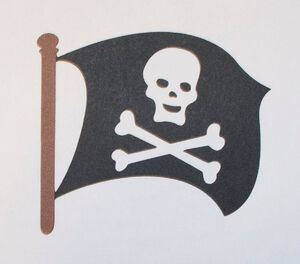 Peter Pan pirate flag cut