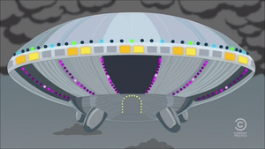 Alien Cow Spaceship