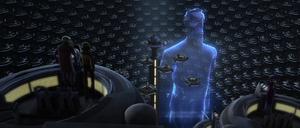 Chancellor Palpatine Dooku hologram