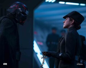 Kylo Ren finds out where Rey is