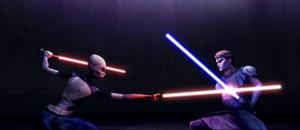 Asajj Ventress Anakin Teth fight