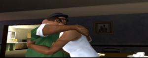 Big Smoke hugging CJ