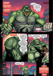 Killer Croc and Roy Harper.