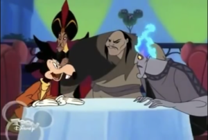 Mortimer with villains