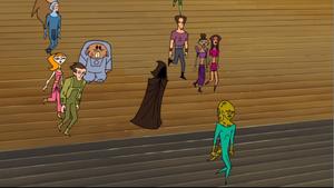 Anakin robe stairs