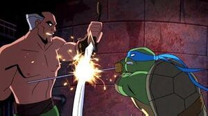 Batman vs TMNT Leonardo vs Ra's al Ghul Batman vs Shredder Final Battle