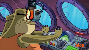 Bubble Bass Flying His Airplane