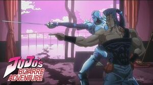 Polnareff vs Devo Stardust Crusaders Dub