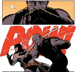 Bane punch Batman