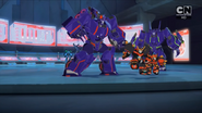 Jetstorm and Slipstream vs Riotgear and Treadshock