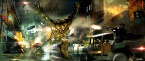 Abomination attacking Harlem - Concept Art