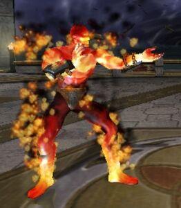 Blaze's Fighting Stance in Deadly Alliance