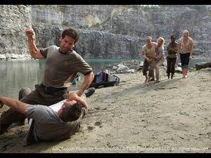 Shane beating Ed