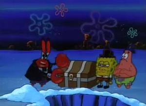 Mr krabs treasure chest