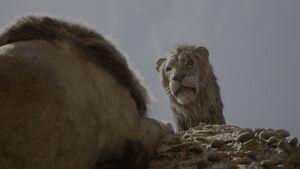Scar waiting Mufasa
