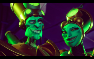 The N Trophy Duo's Evil Grin