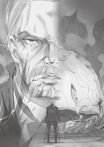 ReZero Volume 7 Wilhelm faces the defeated Whale Illustration