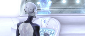 Ventress Jango Fett hologram