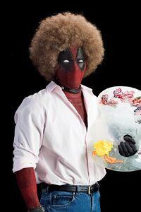 Deadpool-dressed-bob-ross
