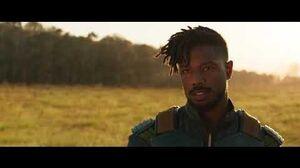 Killmonger Enters Wakanda Black Panther