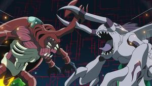 Okuwamon faces MegaKabuterimon again