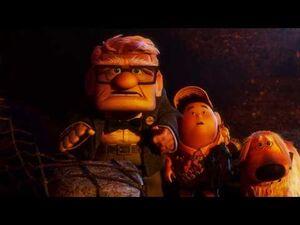 Pixar's Up - Giving Muntz The Bird