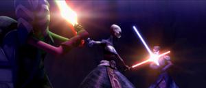 Asajj Ventress Teth double-duel