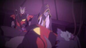 Commander Drick tells Haggar Mar's condition
