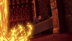 Frollo breaking into Notre Dame on his own