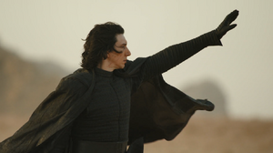 Kylo Ren pulling the First Order's ship