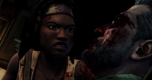 Michonne tightens the vice slowly