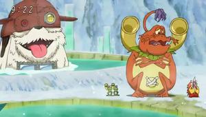 ShogunGekomon and his servants freeze