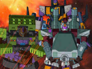 Snow Cat, Demolisher and Mirage (Galvatron has been defeated)