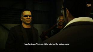 Thugs threaten Frank