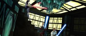 Asajj Jedi back-leap
