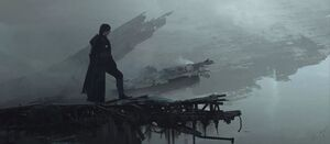 Kylo on the Death Star ruins art