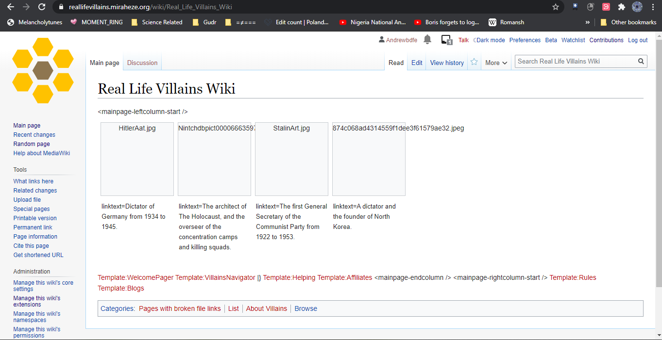 Andrew Do/Admins of Real Life Villains Wiki come here