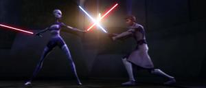 Asajj Jedi duel