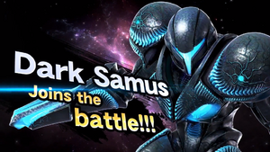Dark Samus joins the battle