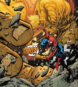 Gog (Tsiln) (Earth-616) and Peter Parker (Earth-616) Amazing Spider-Man Vol 5 42 0001