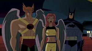 Hawkgirl, Hawkman, and Batman vs