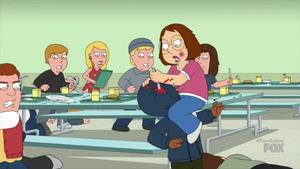 Meg Stabs a Guy's Face