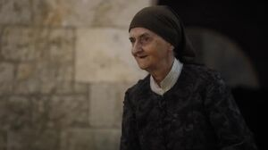 Waif as old woman