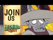 Did That Zombie Monkey Just Kiss My Grandma? Legend Quest NOW STREAMING ON NETFLIX