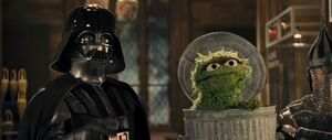 Oscar the Grouch with Darth Vader