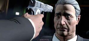 Oswald pointing gun